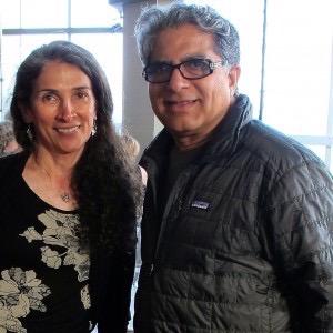Deepak Chopra and Mehrnaz